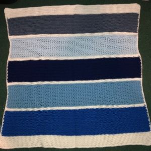 Other - Hand made blue baby blanket